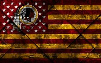 Download wallpapers Washington Redskins 4k American football