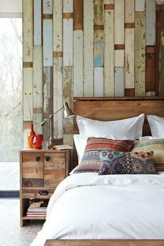 interior idea reclaimed wood bedroom design bedrooms house wood walls
