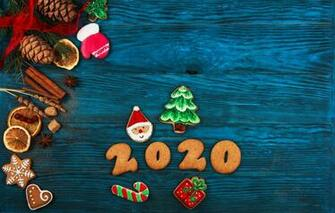 Wallpaper holiday New year composition spices gingerbread