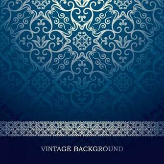 Vintage Blue Pattern Background Vector Vector Graphic Download