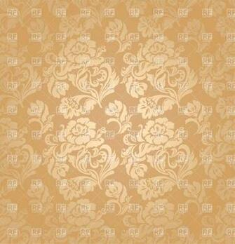 Beige victorian wallpaper with floral pattern download royalty free