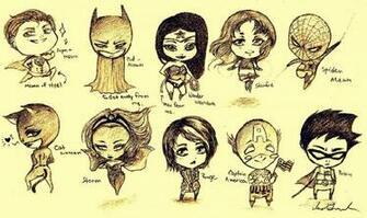 Superhero Chibis by InaBeena
