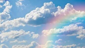 Rainbow in the clouds wallpaper   1034381