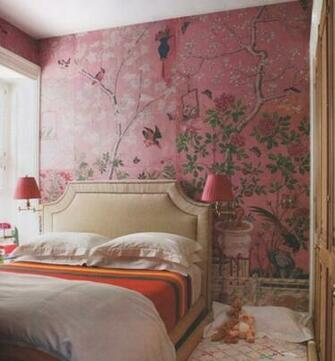 Eclectic Bedroom Ideas Design with Wallpaper   nijihomedesign