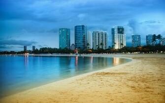 Miami beach blue city miami ocean sand sea