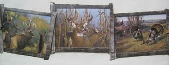 Deer Elk and Turkeys Hunting Wallpaper Border 8 1 2 eBay