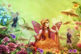 Spring Desktop Wallpaper Fairy Garden