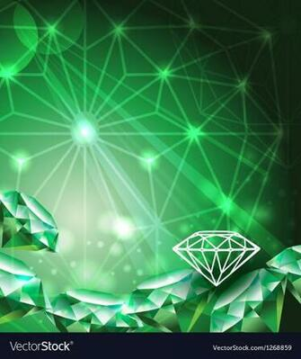 Background with green emerald Royalty Vector Image