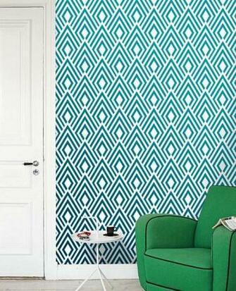 Removable self adhesive modern vinyl Wallpaper wall sticker   Ikat