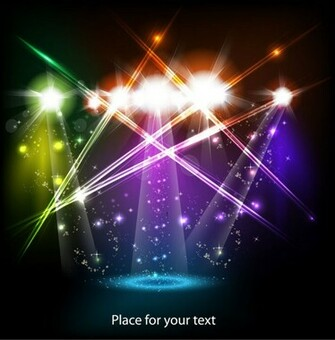 Stage neon light elements vector background   Vector Background