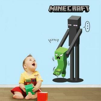 Minecraft Wallpaper Wall Stickers poster Room bedroom set minecraft