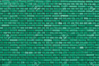 Emerald Green Brick Wall Background Stock Photo Picture And