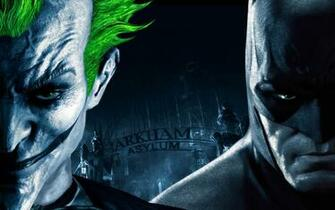 Batman And Joker   Batman Arkham Asylum Wallpaper