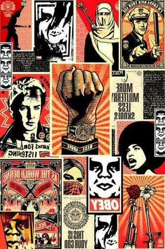 Obey Collage iPhone HD Wallpaper iPhone HD Wallpaper download iPhone