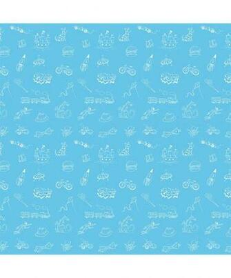 WallCandy Arts Doodle BlueBlack Removable Wallpaper Half Kit zulily