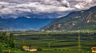 Pictures Italy Bolzano Nature mountain Fields Landscape 2560x1440