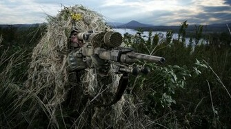 Sniper rifle soldier weapon gun military d wallpaper 2560x1440