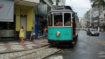 Brazilian Heritage Tramway System city tour of Santos Sao Paulo