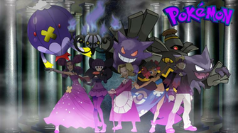 Ghost type Pokemon trainers Updated art by saintnaruto