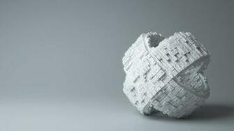 White Puzzle Piece 3D Background Wallpaper