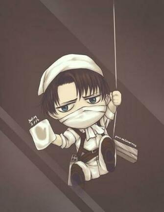 Chibi Levi cleans your screenLevis Cleaning Kyojin Animal Character