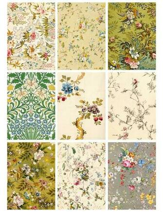 Jodie Lee Designs Printable Antique Flower Wallpaper Cards