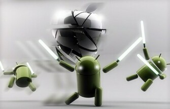 Android vs Apple   Funny Wallpapers for Android FansDzineblog360