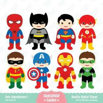 Cute Superhero Clip Art
