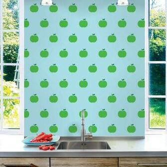 Apple BlueGreen Removable Wallpaper Half Kit   WallCandy Arts