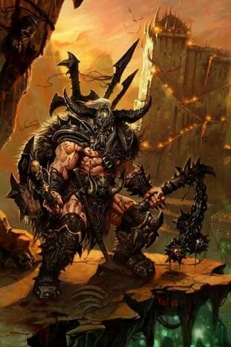 Diablo III Barbarian Wallpaper   iPhone Wallpapers