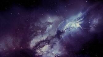 Wallpaper 1366x768 galaxy nebula blurring stars laptop 1366x768