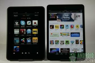 Apple iPad mini vs Amazon Kindle Fire HD