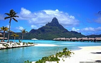 widescreen bora bora wallpaper landscape bora bora wallpaper