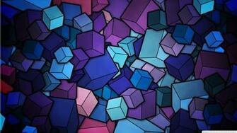 Purple Cubes Stained Glass Geometric Abstract Art 1366768 Wallpaper