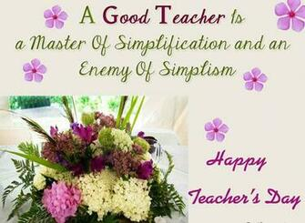 A Good Teacher Is A Master Of Simplification And Enemy Of Simplism