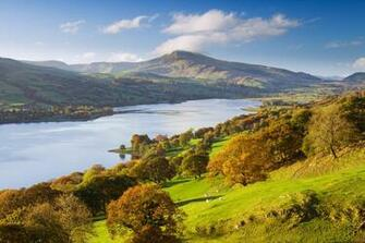 and the Aran Hills in the Snowdonia National Park in Wales Beautiful