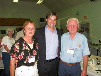 Linda Grandy and Don Robertson with New Brunswick Premier Shawn Graham