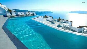 Grace Santorini Hotel pool wallpaper   Beach wallpapers   26450