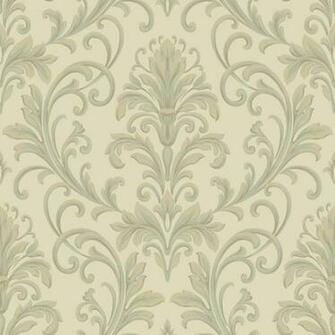 Beige Grey HD6955 Feathered Damask Wallpaper   Textures Wallpaper