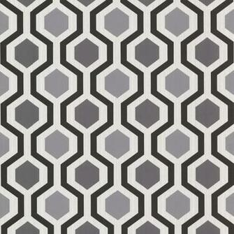Geometric Black And White Trellis Wallpaper   Contemporary   Wallpaper