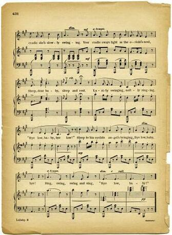 Vintage Images Lullaby Sheet Music