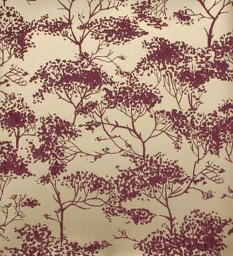 Tivoli woods wallpaper Tree design in shades of light burgundy on a