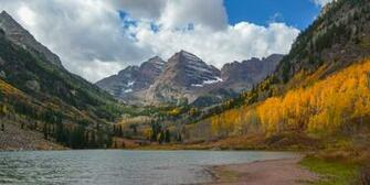 Maroon Lake in Aspen Colorado HD wallpaper