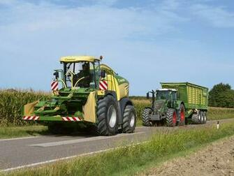 Wallpaper Agricultural machinery Krone BiG X 580 Fendt 2 Roads Two