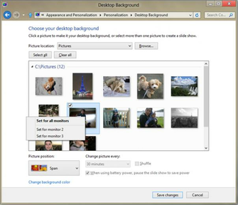 windows 8   Different backgrounds for dual monitor setup   Super User