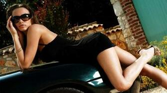 bcarwallpaperscomCar with Girl 1080p Wallpaper Collection   Original
