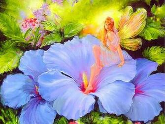 FAIRY IN MOMS GARDEN WALLPAPER   84435   HD Wallpapers