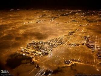 Chicago City Lights Picture Aerial Wallpaper   National Art