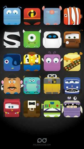 Disney iPhone 5 app skins wallpaper Cool Wallpapers and Backgrounds