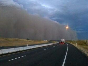 First person Haboob I ran for my pickup Limbs ripped from